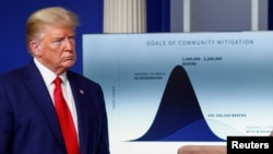 Tổng thống Trump trong buổi họp báo hôm 31/3.
