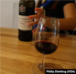 Port wine, a world famous dark-red wine from Northern Portugal.