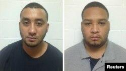 Norris Greenhouse (g.) et Derrick Stafford (d.), le 7 novembre 2015. (REUTERS/Louisiana State Police)