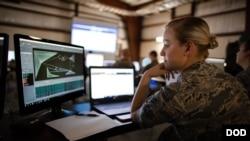 美国国民警卫队员2018年5月11日参与网络集训(美国国防部)