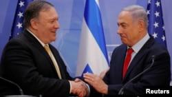 دیدار ماه گذشته مایک پمپئو و بنیامین نتانیاهو در اورشلیم