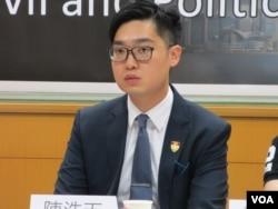 资料照片:香港民族党主席陈浩天