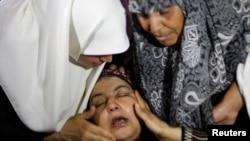 La mère d'Ibraheem al-Dawawsa, 10 ans, tué vendredi par Tsahal