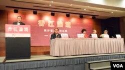香江文化交流基金會舉辦主題為「兩岸僵局如何化解」的香江論壇。(美國之音湯惠芸)
