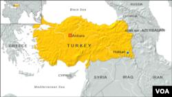 Peta wilayah Turki dan letak propinsi Hakkari.