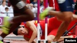 中國跨欄運動員劉翔在本屆倫敦奧運會預賽中意外倒地﹐未能爭奪金牌。