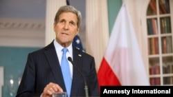 Ngoại trưởng Hoa Kỳ John Kerry phát biểu tại trụ sở Bộ Ngoại giao ở Washington, ngày 7/1/2015.