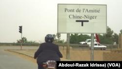 Le pont Chine-Niger de Niamey, le 3 septembre 2018. (VOA/Abdoul-Razak Idrissa)