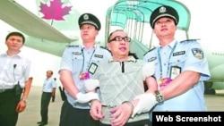 厦门远华案赖昌星2011年被押回中国(苹果日报图片)