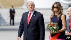 Президент США Дональд Трамп с супругой Меланией. Гамбург, Германия. 6 июля 2017 г.