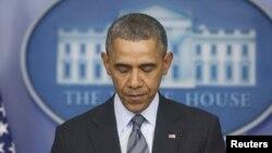 Prezident Obama Ukraina yuzasidan matbuotga baynot berayapti. Oq uy, 6-mart, 2014.