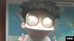 """Karakter komik """"Si Juki"""" (VOA/Ahmad Bhagaskoro)"""