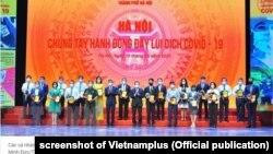 Chính quyền Hà Nội tổ chức chương trình quyên góp cho Quỹ vắc-xin COVID-19 hôm 19/6.