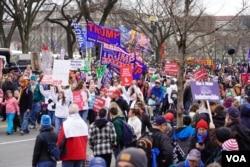 """參加2020年""""為生命遊行""""的活動人士。(2020年1月24日)"""