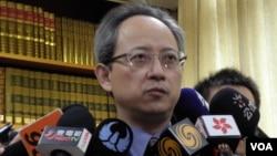 台灣外交部發言人夏季昌(美國之音申華拍攝)