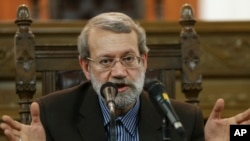 علی لاریجانی، رئیس مجلس شورای اسلامی یا پارلمان ایران