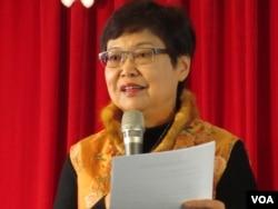 台湾故宫院长冯明珠(美国之音张永泰拍摄)