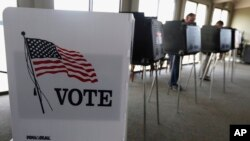FILE - Voters cast ballots in an Illinois primary in Hinsdale, Ill., March 18, 2014. In past elections, young adults have been on the lower end in terms of voter turnout, and expectations for the coming election appear uncertain.