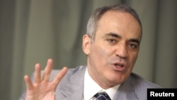 FILE - Former chess world champion Garry Kasparov.