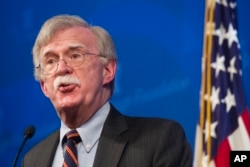 National Security Adviser John Bolton unveils the Trump Administration's Africa Strategy at the Heritage Foundation in Washington, Dec. 13, 2018.