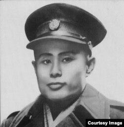 昂山素季的父亲昂山将军遗照。(网络图片)