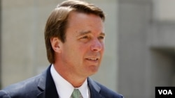 FILE - John Edwards returns to a federal courthouse in Greensboro, N.C., May 31, 2012. Edwards, who was a trial lawyer in North Carolina before his political career, sent a letter to U.S. District Judge Charles Breyer of San Francisco last Friday, asking to be appointed to the powerful plaintiffs' steering committee.
