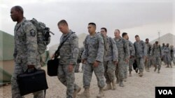 Salah satu agenda pertemuan Obama dan al-Maliki hari ini adalah penyelesaian penarikan pasukan Amerika dari Irak akhir bulan ini (foto: dok).