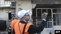 Международные наблюдатели в районе Хомса. 28 декабря 2011г.