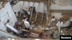 파키스탄 폭탄테러 현장. (자료사진)