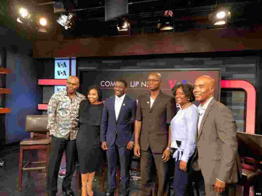 Straight Talk Africa host, Shaka Ssali and YALI panelists.