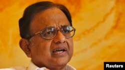 India's Finance Minister Palaniappan Chidambaram speaks during an interview with Reuters in New Delhi, Oct. 7, 2013.