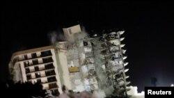 Знесення будинку в Серфсайд, Флорида, США