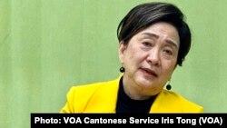 前立法會議員及民主黨前主席劉慧卿表示,如果北京完全扼殺香港的反對聲音,可能令立法會人大化 (攝影:美國之音湯惠芸)