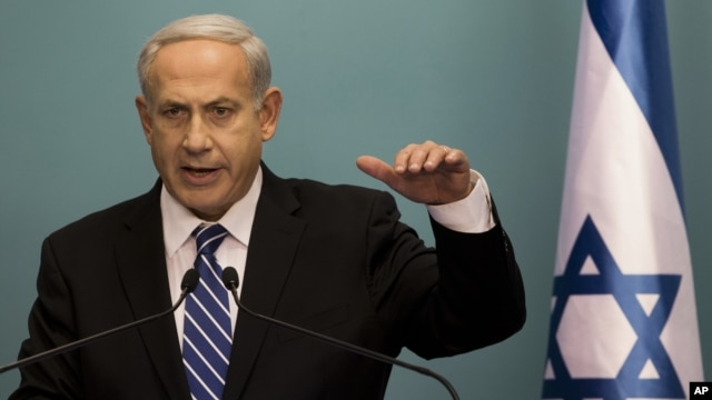 Israeli Prime Minister Benjamin Netanyahu speaks during press conference Oct. 9, 2012