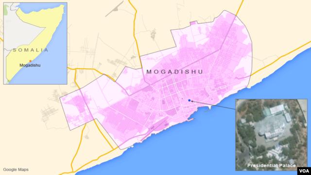 The Presidential Palace in Mogadishu, Somalia