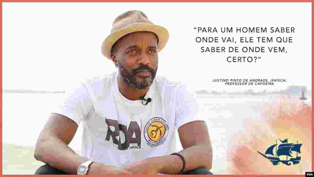 Justino Pinto de Andrade, Faísca, capoeirista angolano