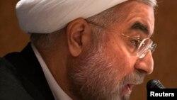 하산 로하니 대통령이 27일 유엔 총회가 열리는 뉴욕에서 기자회견을 갖고, 이란 정부의 입장을 설명했다.