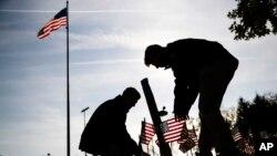 Ngày Cựu Chiến Binh tại Đài Tưởng Niệm Chiến Tranh Việt Nam tại Philadelphia. Hình minh họa.