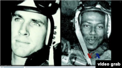 赫納德(左)與僚機戰友布朗攝於63年前的照片