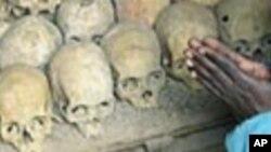 Des restes de victimes du génocide de 1994 au Rwanda