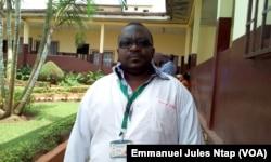 Parfait Olomo, en service à l'hôpital de district de la cité verte à Yaoundé, le 17 avril 2017. (VOA/Emmanuel Jules Ntap)