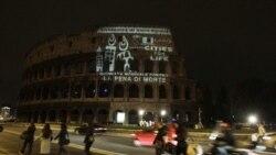 صدها تن از مخالفان مجازات اعدام در رم تظاهرات کردند