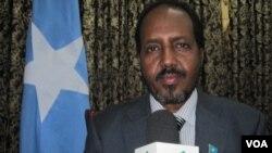 Presiden Somalia Hassan Sheikh Mohamud memuji kemenangan pasukannya atas pemberontak Al-Shabab di kota Kismayo (foto: dok).