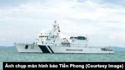 Tàu tuần tra của lực lượng bảo vệ bờ biển Ấn Độ cập cảng Tiên Sa, Đà Nẵng, từ 1/4 và sẽ có cuộc tập trận chung với hải quân Việt Nam trước khi rời đi ngày 4/4. (Ảnh chụp màn hình Tiền Phong)