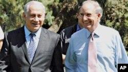9月29日以色列总理内塔尼亚胡欢迎美国中东问题特使米切尔