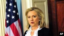 미국 대사 위협을 비난하는 클린턴 장관