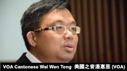 香港立法會保安事務委員會副主席涂謹申 (攝影: 美國之音湯惠芸)