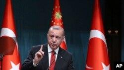 Le président turc Recep Tayyip Erdogan, au palais présidentiel à Ankara, en Turquie, le 6 mai 2019.