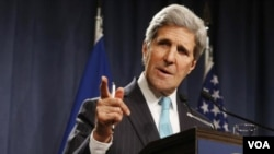ລັດຖະມົນຕີ ການຕ່າງປະເທດ ສະຫະລັດ ທ່ານ John Kerry.