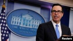 به گفته استیون منوشن وزیر دارایی آمریکا، این تصمیم پس از دیدار او با پرزیدنت ترامپ و مایک پمپئو در کاخ سفید گرفته شده است.